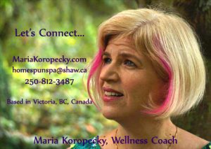 Wellness Coach near me in Victoria, BC Canada.
