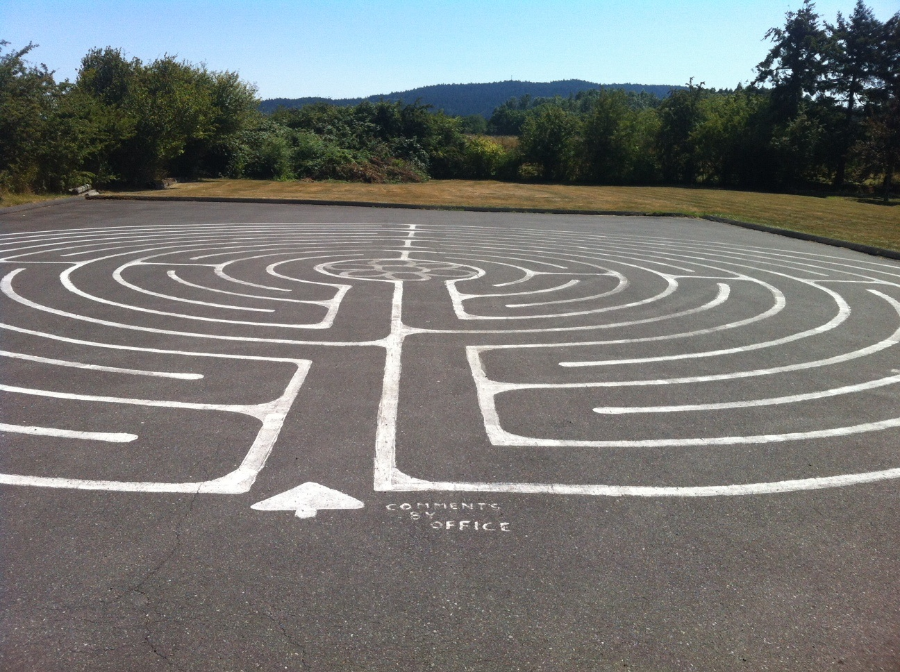 Labyrinth in the parking lot of Holy Trinity Anglican Church in North Saanich, BC.
