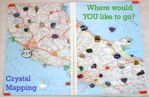 Map of 44 Crystals for Crystal Mapping Session.