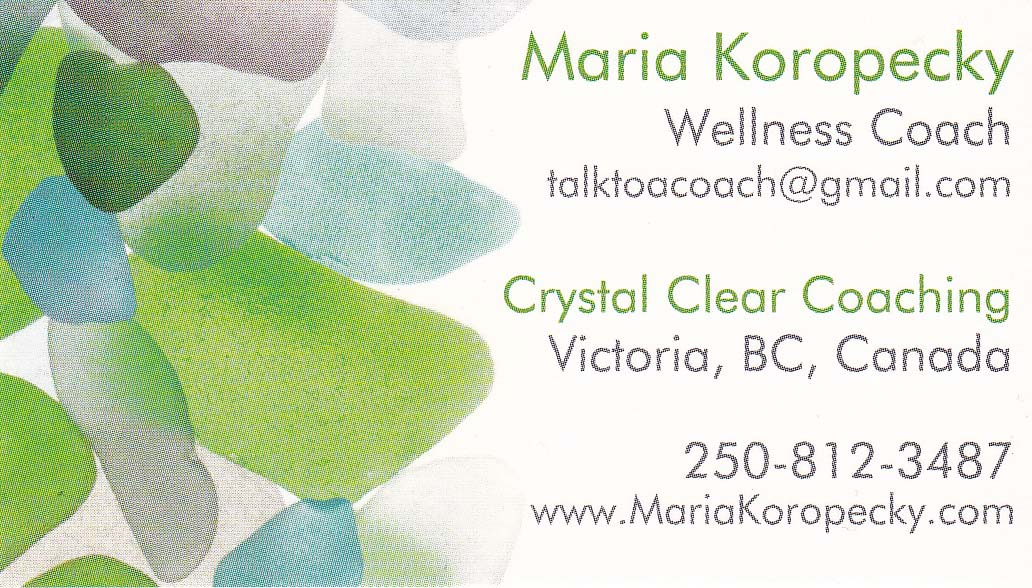 Contact Wellness Coach Maria from Crystal Clear Coaching today!