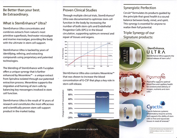StemEnhance Ultra for Ultimate Stem Cell Nutrition.