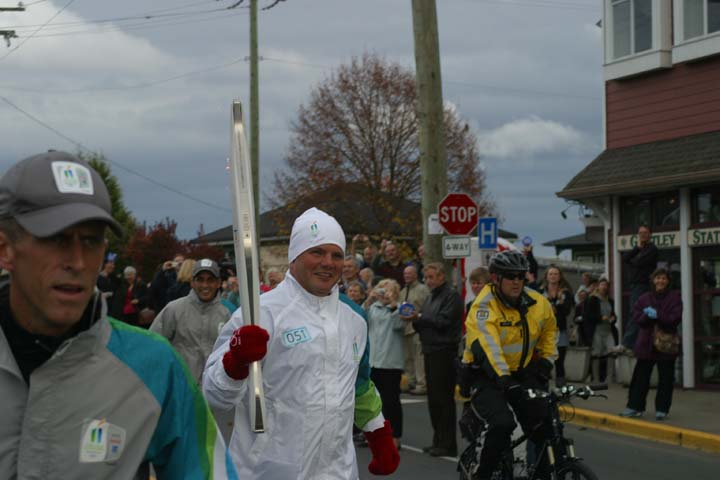 Olympic Torch 2010 near Victoria, BC.