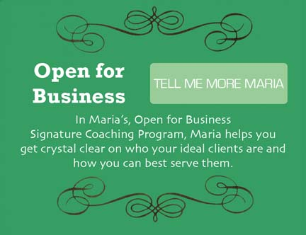 In Open for Business Signature Coaching Program, you'll get crystal clear on who your ideal clients are and how you can best serve them.