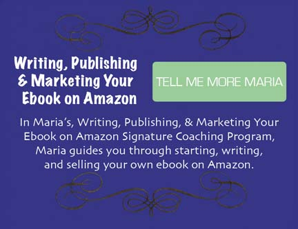 In Writing, Publishing, and Marketing Your Ebook on Amazon Signature Coaching Program, you'll start writing your own ebook to sell on Amazon.