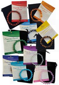 Round Gemstone Prosperity Bracelets available at CruisingIntoWellness.com.