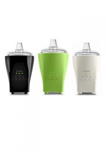 black, green, and white essential oil diffusers.