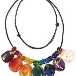Tumbled gemstones necklace.