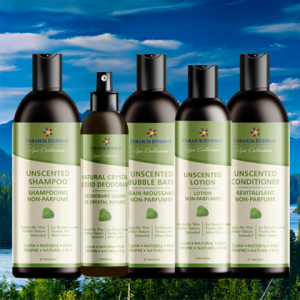 Unscented hair care & body care products available at CruisingIntoWellness.