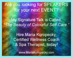 The Beauty of Colourful Self-Care talk.
