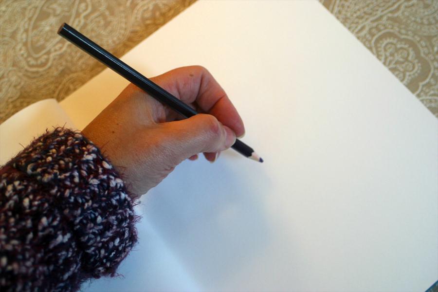 blank sketch book.