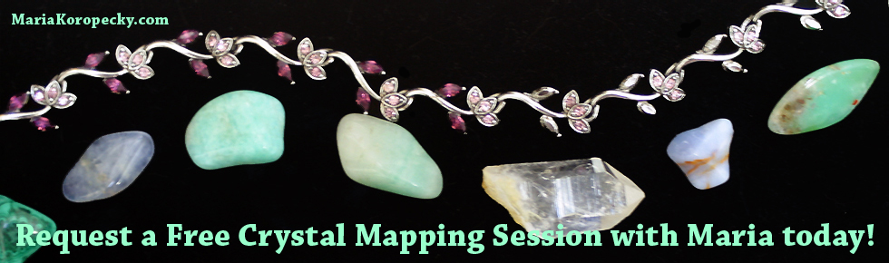 Request a free crystal mapping session with Maria today!
