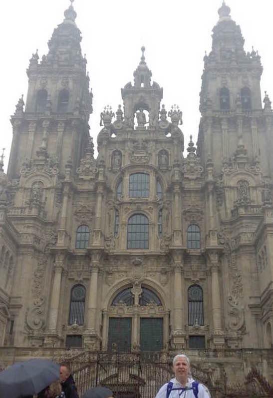 Maria at Santiago de Compostela.