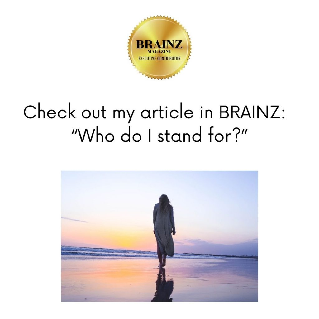 Who do I stand for article in Brainz.